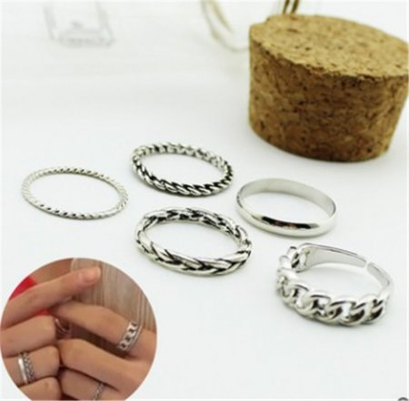ALLKPOPER KPOP BTS V 5pcs Finger Ring Bangtan Boys Fashion Jewelry For Women Gift