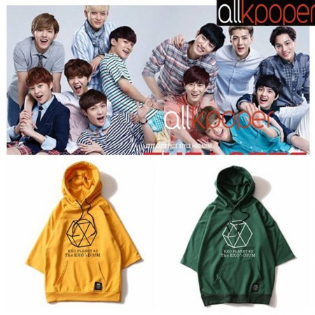 ALLKPOPER KPOP EXO Raglan Sleeve Cap T-shirt GOT7 Twice Three-quarter Sleeve Tshirt MONSTA X Casual SEVEVTEEN Tops