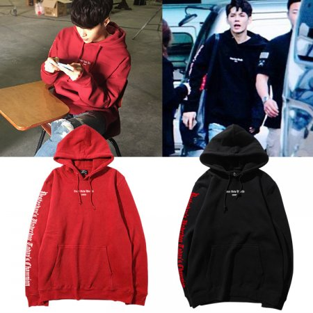 ALLKPOPER KPOP EXO LAY Cap Hoddie Sweater WANNA ONE ONG SEONG WU BF Style Unisex Coat Street Snap Pullover