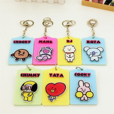 ALLKPOPER KPOP Cartoon BTS Card Set BT21 Bangtan Boys School Card Cover Love Yourself Bus Card