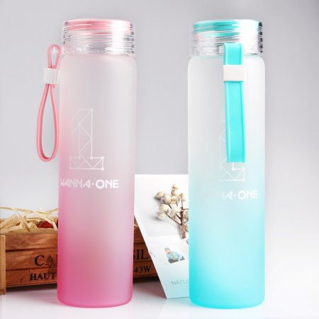 KPOP Wanna One Cup Gradient Water Bottle Frosted Drink Cup Kang Daniel LAI KUAN LIN