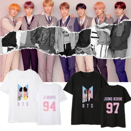 ALLKPOPER Kpop BTS Tshirt Love Yourself Answer 2018 Summer World Tour T-shirts Tops