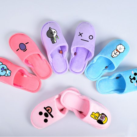 ALLKPOPER KPOP BTS Shoes BT21 Chimmy Cooky Koya Mang Shooky flip flop