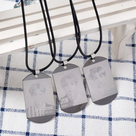 ALLKPOPER KPOP BTS Pendant Necklace V SUGA JIN JIMIN J-HOPE Necklace Accessories
