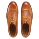 5005NYH Mens Dress Shoes Geninue Leather Spectator shoes Brown