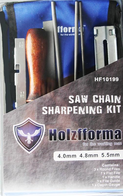 Holzfforma Chain Saw Sharpening Kit Chainsaw File Tool Set Guide Bar