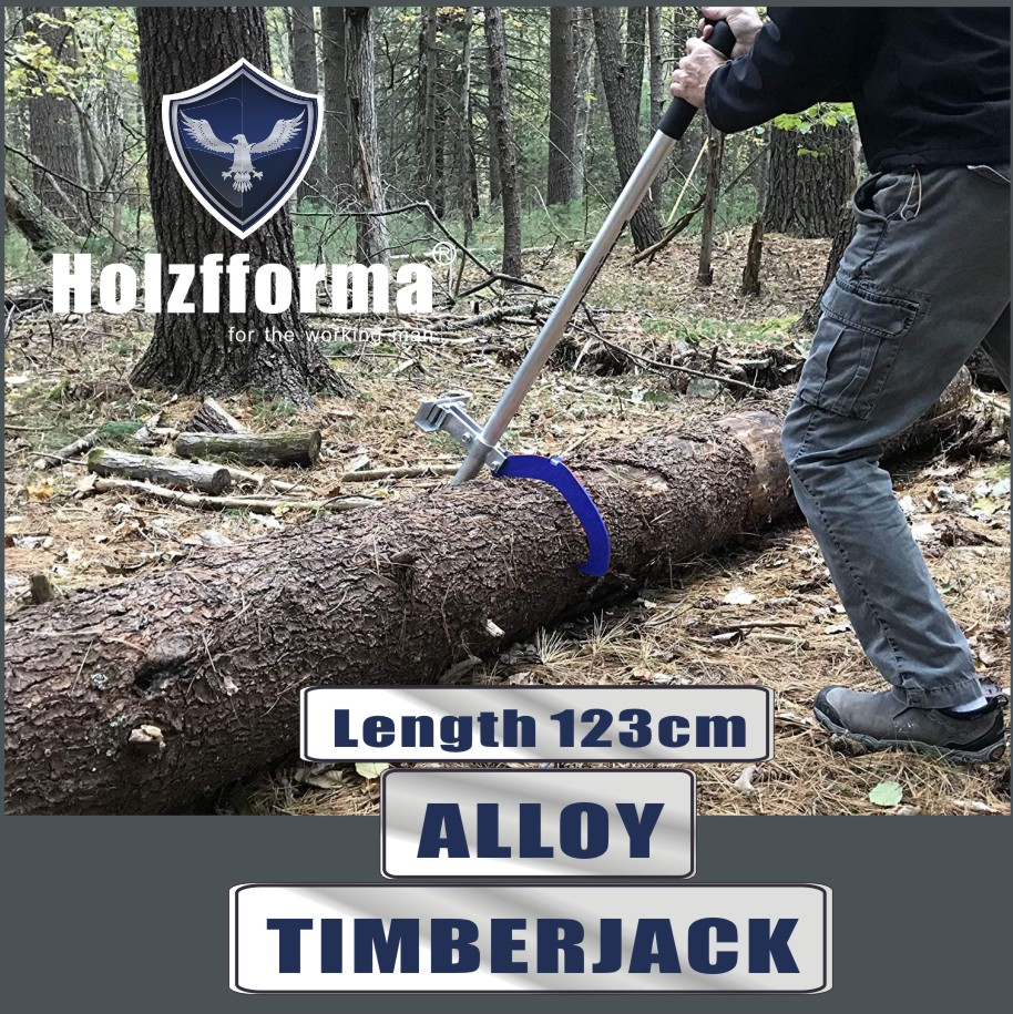 TC-Home Timber Jack Tool Log Lifter Cant Hook Steel Timberjack for Felling and Logging