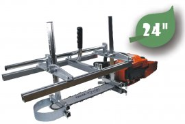 24 Inch Holzfforma Portable Chainsaw Mill Planking Milling From 14''  to 24''  Guide Bar