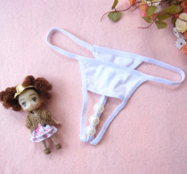 White Pearl Crotchless Panty 6870