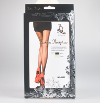 Nude And Black Cuban Heel Stocking 2129