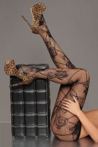 Rose Pattern Sheer Pantyhose 8183