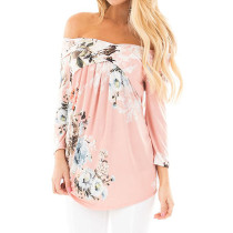 Women's Cross Front Floral Blouse Pink 6284