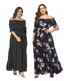 Plus Size Floral Print Maxi Dress XL-6XL 0095