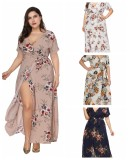 Plus Size Bohemian Maxi Dress 0020