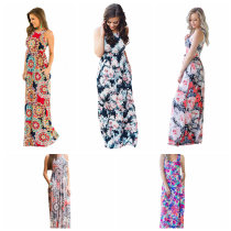 High Quality Womens Floral Maxi Dress 016