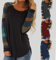 Striped Long Sleeve T Shirts 89042