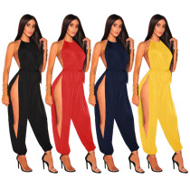 Side Cutout Sexy Jumpsuit 1096