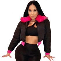 Heavy Down Jacket With Fur Collar 4543