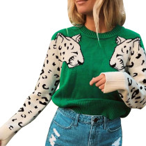 4 Colors Leopard Pullover Sweater 050