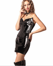 Leather Corset Top and SKirt Sets 7040