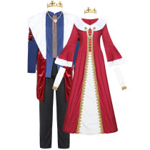 King Queen Christmas Costume for Men and Women 6921-6922