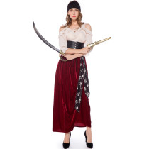 M-XL Carnival Party Female Pirate Cosplay Costume 19020