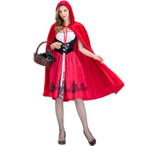 S-XXXL Red Riding Hat Fairy Costume 1847