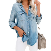 Ladies Denim Blouse Tops 1003