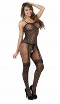 Diamend Net Crotchless Bodystocking 086