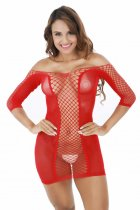 Three Quater Sleeve Fishnet Chemise 220