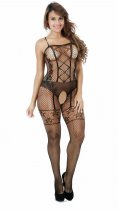 Front Criss-cross Fishnet Bodystocking 222