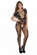 Short Sleeve Crotchless Bodystocking 217