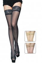 Lace Top Black Sheer Thigh High 2119