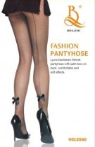Fishnet Pantyhose With Ankle Bow 2040