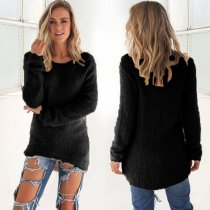 Black Pullover Sweater 0179