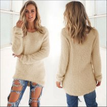 Apricot Pullover Sweater 0179
