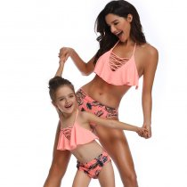 Lace Up Mother Daughter Bikini Swimsuit 190121