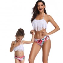 Tassel Mother Daughter Bikini Set 190157