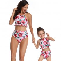 Floral Print Mother Daughter Bikini Set 190183