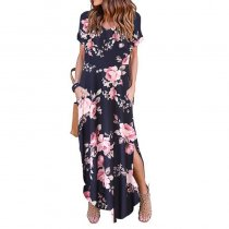Floral Women's Maxi Dress Pattern 90218