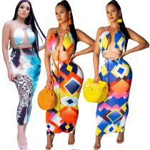 2 Piece Summer Skirt Set For Women 8107
