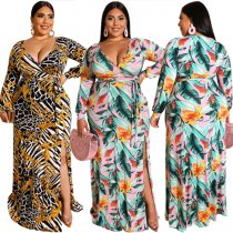Long Sleeve Plus Size Maxi Dresses 19315