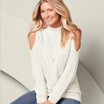 Cold Shoulder Casual Sweater 5517