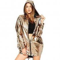 Women Metallic Waterproof Jacket ALS010