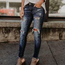 Skinny Distressed Jeans 9005