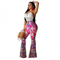 Floral Flare Pants 1130