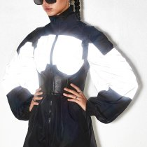 Fashion Reflective Jacket Women 93403