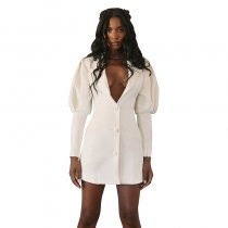White Blazer Dress Bodycon 1735083