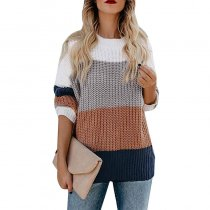 Casual Rainbow Stripe Sweater 5549