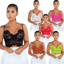 Underwire Lace Bralette Crop Top 5251